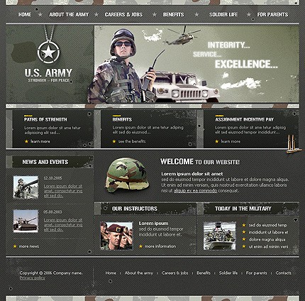 Buy custom website templates small business templates set up your us army flashek Choice Image